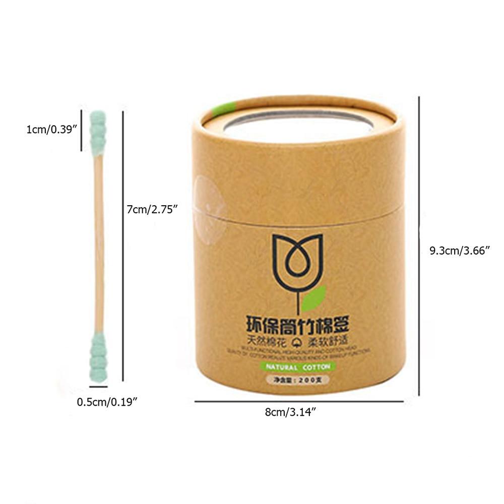 Boîte de 200 cotons-tiges BIO en Bambou et coton naturel 3