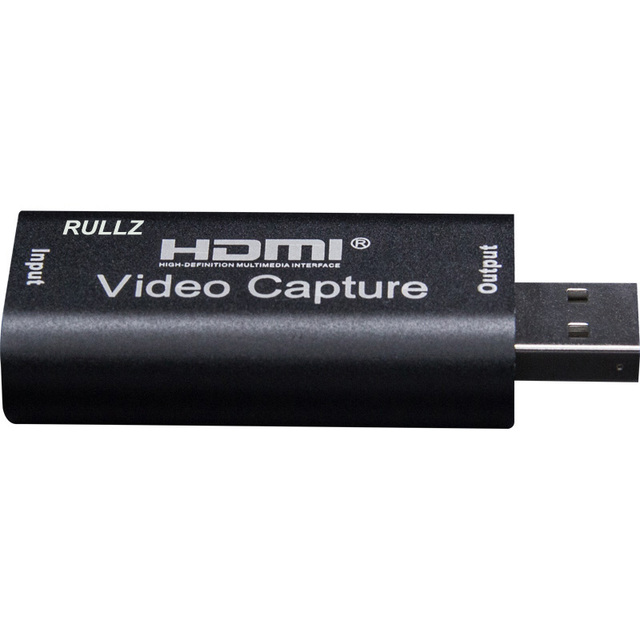 Rullz 4K Video Capture Card USB 3.0 2.0 HDMI Video Grabber Record Box for PS4 Game DVD Camcorder Camera Recording Live Streaming 2