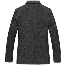 2020 New Arrival moda duże rozmiary męskie wełniane garnitur casual kurtka jesień zima mężczyźni Blazer wysokiej jakości Plus rozmiar SMLXL2XL3XL4XL5XL tanie tanio Akrylowe Z wełny Mikrofibra Poliester REGULAR Pojedyncze piersi Pełna Na co dzień Blazers