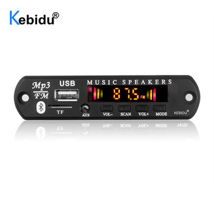 Nova tela colorida bluetooth 5.0 receptor carro kit mp3 player decodificador placa de apoio fm rádio tf usb 3.5mm aux áudio para carro diy