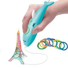 3D Printing Pen DIY Drawing Dolphin Printer Pen With Filamen