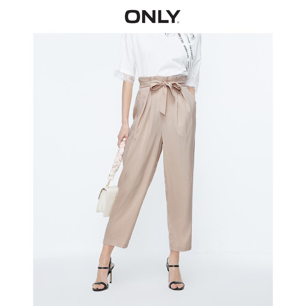ONLY Women's Loose Straight Fit High-rise Crop Pants   119150528