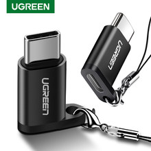 Ugreen USB Type Cอะแดปเตอร์OTG Micro USB To USB C Cable ConvertersสำหรับMacbook Pro Samsung S10 Plus Quick USB C OTG Cable(China)