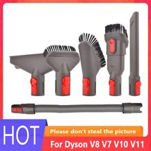 Cabeça de sucção da escova poeira para dyson v8 v7 v10 v11 robô aspirador peças acessórios substituição conector mangueira kit
