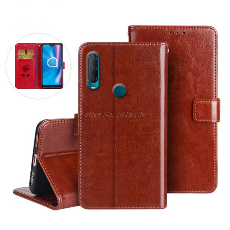 Phone Case for Alcatel 1S 2020 Case Cover Luxury Flip Wallet PU Leather Business Case for Alcatel 1S 5028Y 5028D 2020 Book Cover(China)