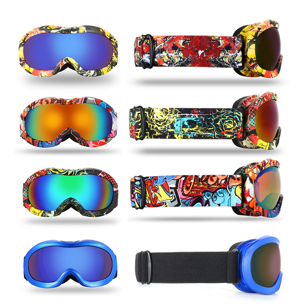 Kid Anti-fog Ski Goggles UV Dual Lens Snowboard Goggles Windproof Snow Skating Skiing Sports Goggle For Kids