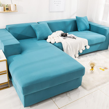 universal elastic sofa covers for living room all inclusive stretch sectional slipcovers couch cover sofa cover 1 2 3 4 seater Solid color Spandex Sofa Cover for Living Room Elastic Stretch Sectional Corner Couch Cover Slipcovers 1/2/3/4-seat Sofa Covers
