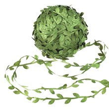 Artificial Vines Leaf Ribbon Garland Leaves Jungle Botanical Greenery Fake Foliage Rattan for Party Wedding Wreaths DIY(China)