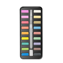 12/18/24 Colors Reusable With Brush Line Acrylic Portable Lightweight Solid Watercolor Paint Set Colorful Art Painting Drawing
