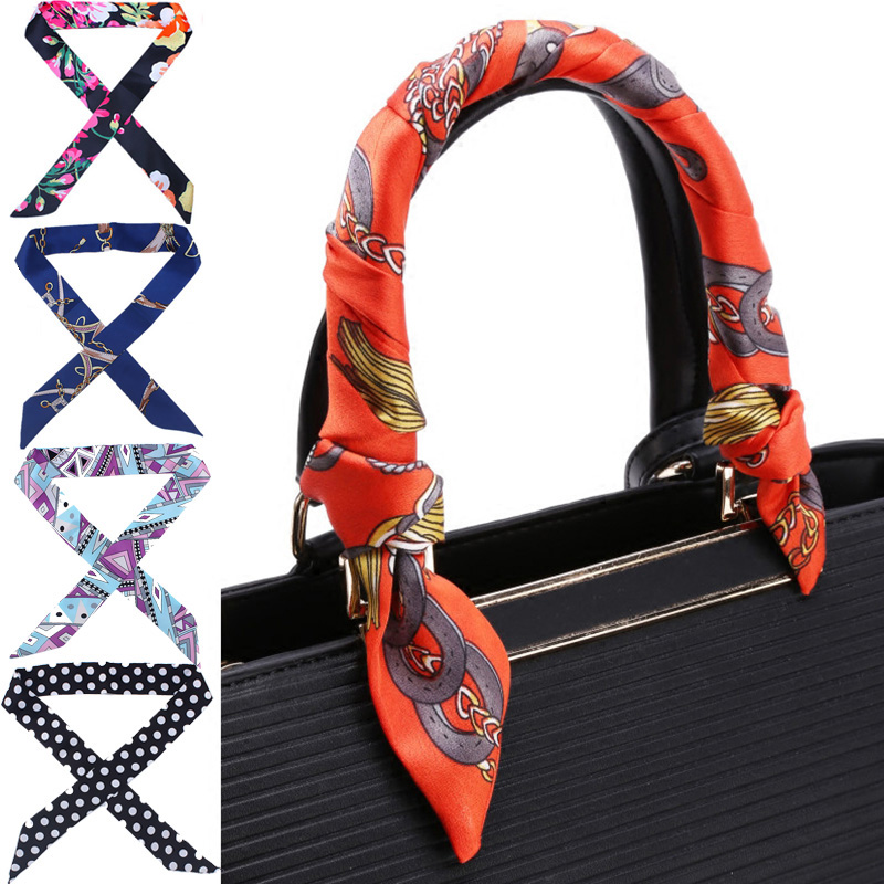 1PC New Creative  Neckerchief Bag Handle Decoration Belt Ribbon Tied Headband Slender Popular Accessories Women Scarf Scarves