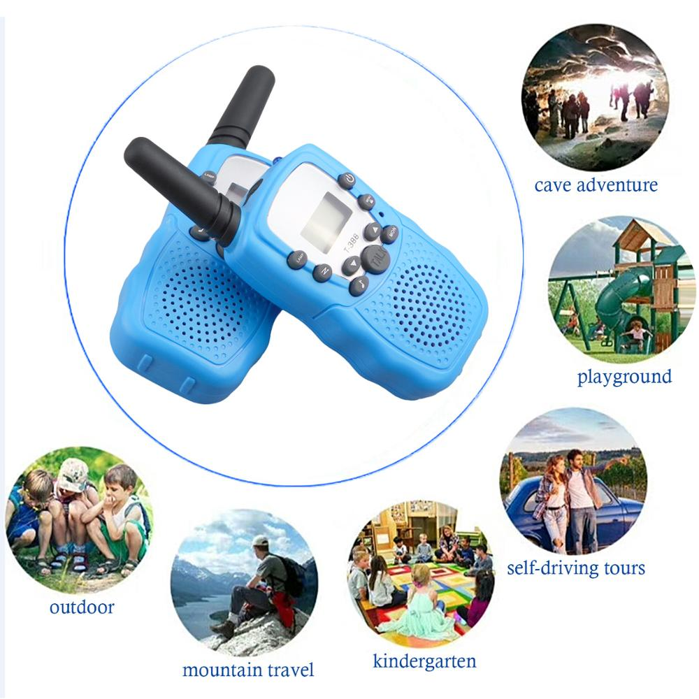 2PCS Kids 22 Channel Walkie Talkie 3-5km Range Two Way Radio Transceiver Interphone Handheld Communicator Talkies Walkies Toy