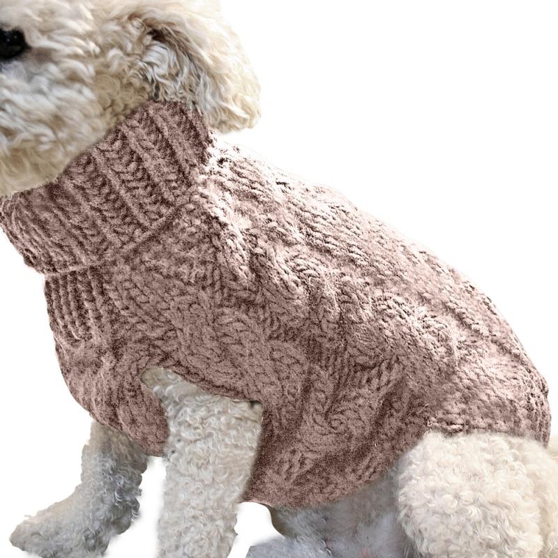 Cachorro quente gato camisola roupas inverno gola alta malha pet gato filhote de cachorro roupas traje para cães pequenos gatos chihuahua roupa colete 3