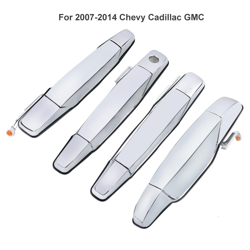 Exterior Door Handle Chrome Rear Right RH Passenger for 2007-2013 CHEVROLET GMC