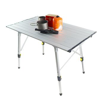 Stół kempingowy stół aluminiowy kompaktowy stół aluminiowy do grillowania na świeżym powietrzu tanie i dobre opinie Lighten Up CN (pochodzenie) aluminum alloy Leg Adjustment camping table