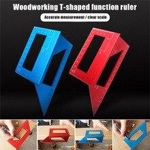 T-typ Glasritzrades Guide Herrscher Multifunktionale 45 90 Grad Winkel Werkzeuge für Holzbearbeitung Mess L9 #2
