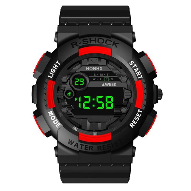 Reloj Digital para hombre, reloj electrónico impermeable, relojes deportivos, correa de TPU, espejo de plexiglás, caja de resina, cronómetro Horloge Heren 20 *