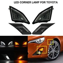 Clear or smoked lens LED side markerturn signal light+Corner lamp for Toyota GT86 Scion FR S 2013 up