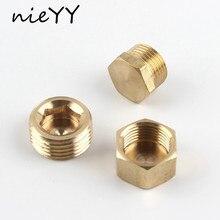 2pcs G1/8 1/4 3/8 1/2 3/4 Metal Plug Cap Nut Hexagon Caps Copper Hex Plugged
