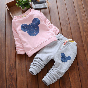 Melario Newborn Baby Girl Clothes Cute Cartoon Sweatshirt and Pants 2Pcs Outfit Cotton Baby Tracksuit Set Fashion Infant Clothes cotton 2pcs newborn clothes cute cartoon baby boy clothes tops pants outfit suits baby tracksuit set t08