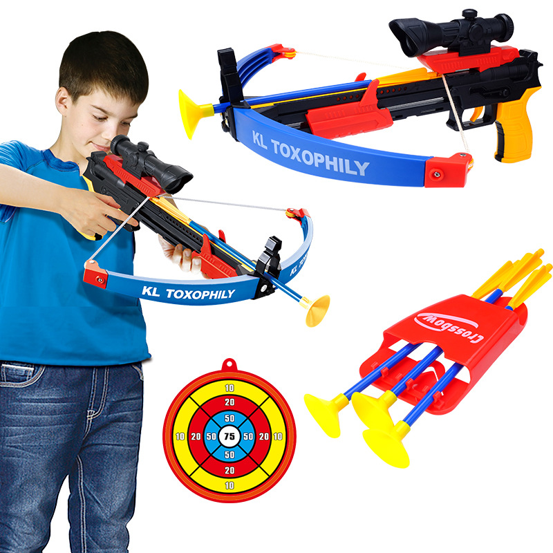 CHILDREN'S Toy Model Bow And Arrow Set Shooting Combination Plastic Sucker Bow And Arrow Crossbow Sports Toy