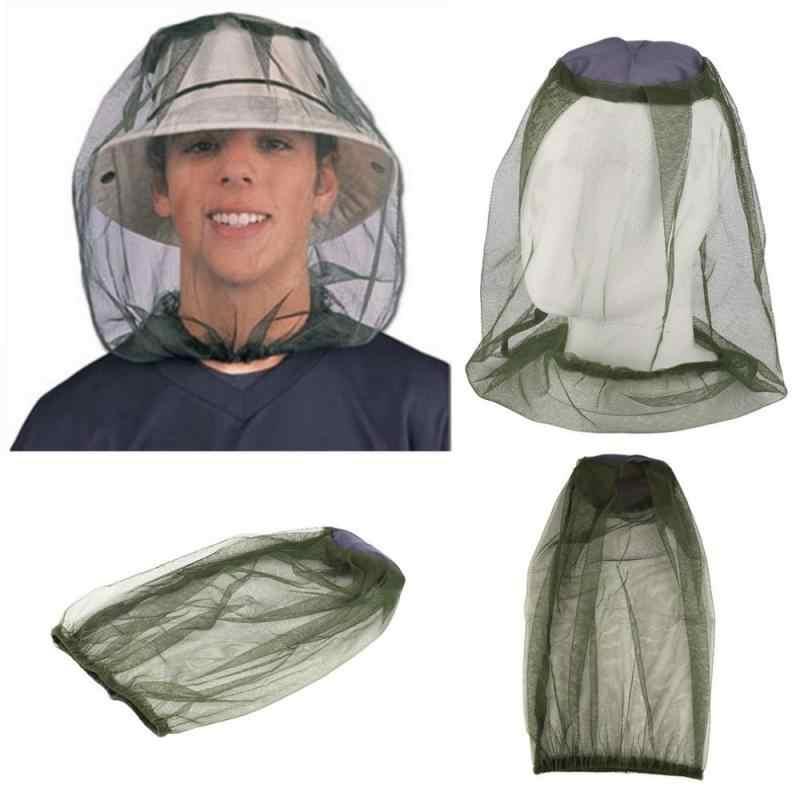 Outdoor Anti Zanzara Ape Insetto Cappello di Maglia Testa Viso Proteggere Copertura Della Rete di Campeggio di Viaggio Protezione Berretto di Pesca Attrezzi di Campeggio