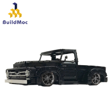 BuildMoc City Police Station Building Blocks Compatible lepining City Truck Blocks Car Educational Toy For Boys Children Kids 2020 new city police station bela compatible lepining city 60141 60047 60140 building blocks toys for children birthday gift