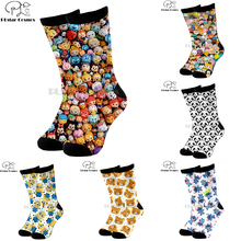 Plstar Cosmos Cartoon socks lovely cute Animal dog cat deer 3d Funny long Socks Men Women cotton quality dropshopping-2