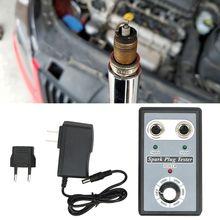 אוטומטי רכב מצת בודק עם מתכווננת כפול חור גלאי הצתה Plug Analyzer עם האיחוד האירופי Plug עבור 12V בנזין רכב