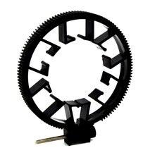 Портативный универсальный размер 0,8 Модуль непрерывного изменения фокусировки зубчатое кольцо Регулируемый ABS для непрерывного изменения фокусировки зубчатое кольцо для объектива DSLR 55-65 мм