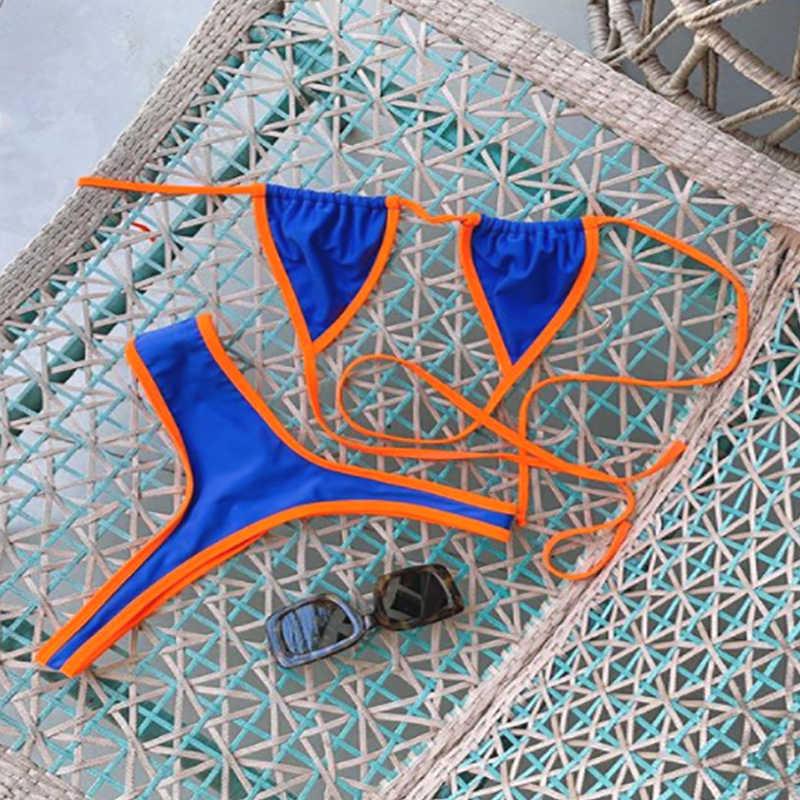 Biquini マイクロミニビキニセット水泳小さなカップ水着高カット tバックビキニ卸売 g ストリング水着ホット販売