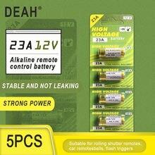 5個新ドライアルカリ電池23A 12v A23ドアベルのための車の警報リモートコントロール21/23 23GAを23 a-23 GP23A RV08 LRV08 E23A V23GA