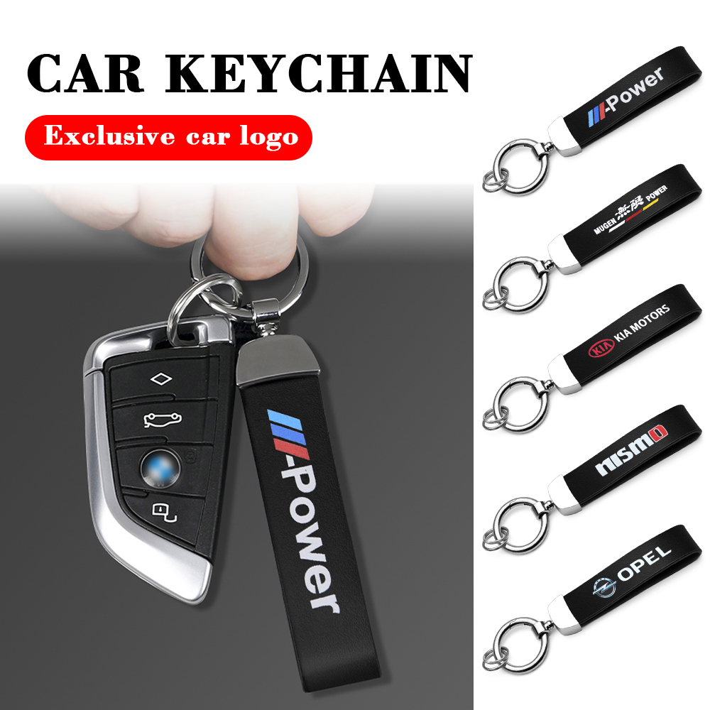 3D Metal leather Car Styling Emblem Keychain For Subaru Impreza Forester Tribeca XV BRZ Key Chain Rings Accessories