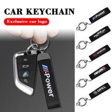 3D Metal leather Car Styling M Power Emblem Keychain Key Chain Rings For BMW  X1 X3 X4 X5 X6 X7 E46 E90 F20 E60 E39 F10