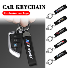 3D Metal leather Car Styling Power Emblem Keychain Key Chain Rings For JEEP Grand Cherokee Commander Renegade Wrangler Compass
