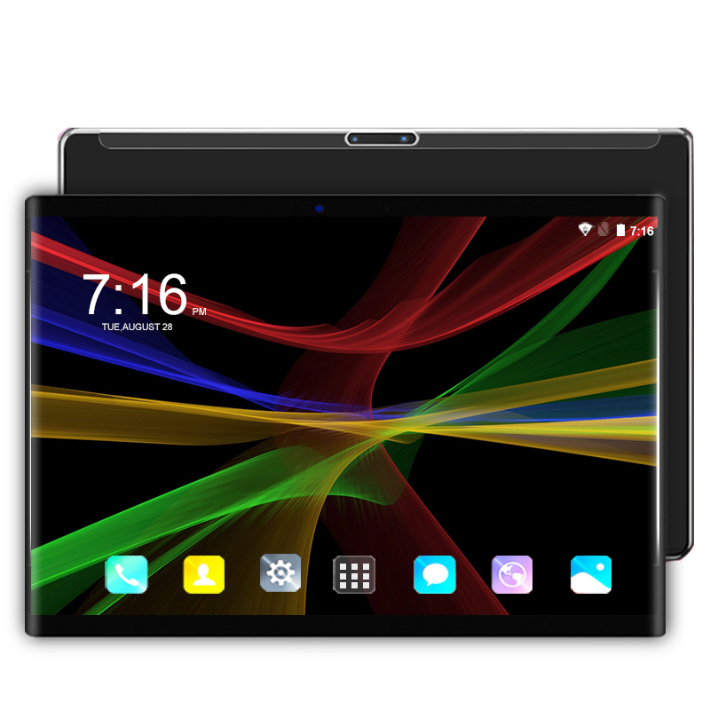 """10.1 Inch Tablet PC 3G 4G LTE Phone Android 7 Octa Core RAM 4GB ROM 64GB 1280*800 IPS Tempered Screen WIFI GPS Tablets 10""""+Gift"""