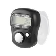 Clicker 4 Digit Number Counters Plastic Shell Hand Finger Display Manual Counting Tally Timer Soccer Golf Counter dropsh