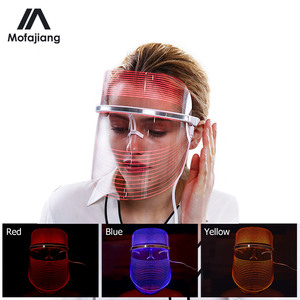 LED Photon Light Therapy Facial Mask Whitening Anti Aging Skin Tightening Rejuvenation 3 Color Photonic Skin Care Remove Wrinkle