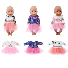 2019 American doll clothes accessories with gauze dress suitable for 18 inch girl doll 43cm baby doll, generation, gift elegant white wedding dress for american girl doll 18 inch ddoll clothes