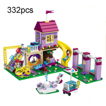 Compatible Friends 10774 Bela Building Blocks Set Heartlake City Playground DIY Model Bricks Toys For Chlidren Educational Gifts стоимость