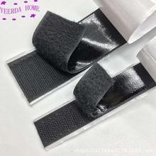 25 מטרים שחור לבן צמדן אטב קלטת קסם ניילון מדבקת דבק לולאה דיסקים Velcros 3M דבק 16 /20/25/30mm DIY