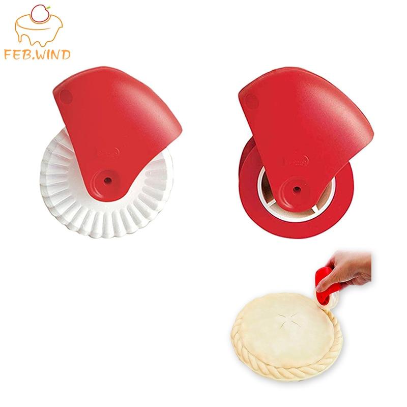 Plastic Fluted Pastry Cutter Wheel Pastry Crimper and Sealer Noodle Maker Pasta Noodle Cutter Lattice Pie Crust Crimper Tool 393