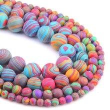 VINSWET натуральный цвет малахитовые Матовые Круглые бусины с рассыпчатым камнем для самостоятельного изготовления ожерелья, браслетов, ювелирных изделий, размер 4, 6, 8, 10, 12