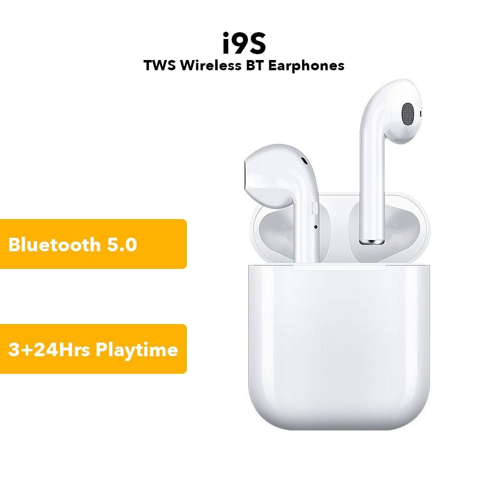 Instock i9s tws fone de ouvido Sem Fio Fones de Ouvido Fones de Ouvido Sem Fio Bluetooth 5.0 Para xiaomi iPhone fones de ouvido