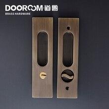 Dooroom латунные раздвижные двери замок современный американский Push Pull Скрытая ручка интерьер гостиная ванная комната балкон замок с ключами
