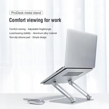 Nillkin Folded ProDesk Adjustable Laptop Stand Holder Aluminum Alloy Silicone Pad For 13 14 15 16.6 inches PC Macbook Air Pro