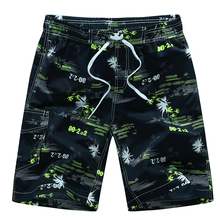 цена на Summer Men Shorts Surf Board Print Swimming Boxers Beachwear Mesh Liner Drawstring Pockets Quick Dry Plus Size Beach Shorts Male