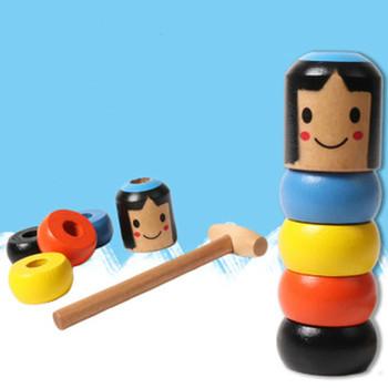 Nowe nieruchome Tumbler magiczne uparte drewno człowiek zabawka zabawna niezniszczalna zabawka magiczne sztuczki zbliżenie etap magiczne zabawki tanie i dobre opinie Drewna Unisex Daruma Do Not Pour Out Toys Tumbler toys Obedient For Children Jeden rozmiar 2-4 lat 5-7 lat 8-11 lat 12-15 lat