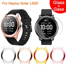 TPU Watch Screen Case Cover + Glass Film For Xiaomi Haylou Solar LS05 Smart Watch Protector Case Bracelet Protective Watch Cover