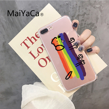 INS Korea cute animal summer rainbow dog phone case For iphone Xs max Xr X 6 6s 7 8 plus letter cloud soft TPU Back Cover