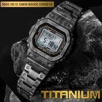 Correa de reloj personalizada para DW5600, aleación de titanio, bisel, G5610, camuflaje, GW5000, DW5035, herramientas de cubierta, 5610